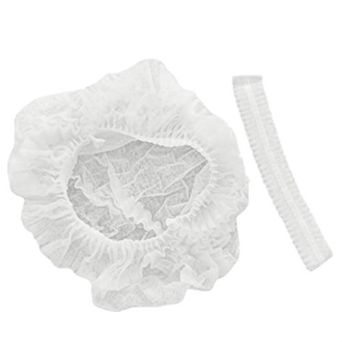 Buy RUIVE Disposable Hat Cover Non-Woven Dust-Proof Strip Cap Elastic 100 PCS Protective Dust Hat (O...