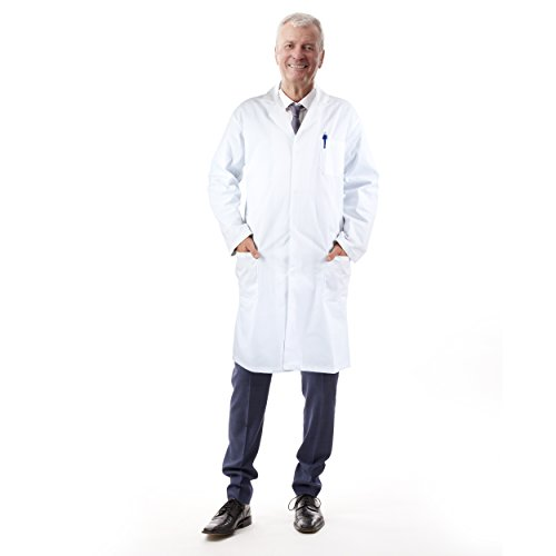 Unisex Adult White Lab Coat. Ideal for Low Cost Doc Brown BTTF Costume