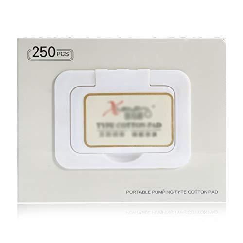 DUOER HOME Gesichtsmake-up Entferner 250 Teile/schachtel Make-Up Wattepad/Entferner Baumwolle Gesicht Abwischen Tiefenreinigung Baumwolle Hautpflege Gesicht Waschen Papier Kosmetik Werkzeuge