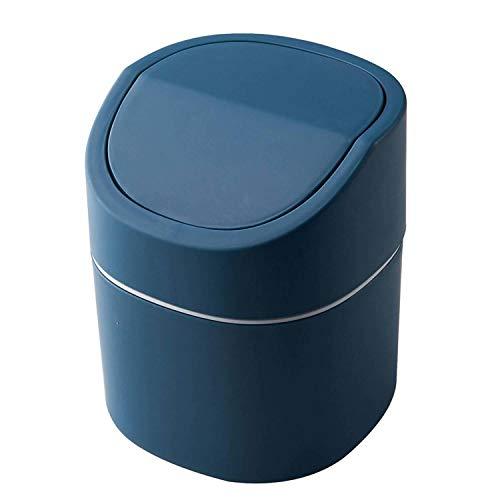 VNASKH Mini Cubo de Basura Multifuncional de Escritorio, Cubo de Almacenamiento de Coche para el hogar con Tapa, Cubo de Basura, Sala de Estar nórdica, Oficina