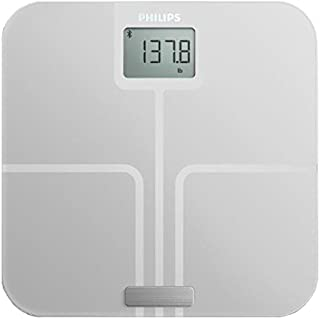 Philips Connected Body Analysis Weight Scale, White, DL8781/37