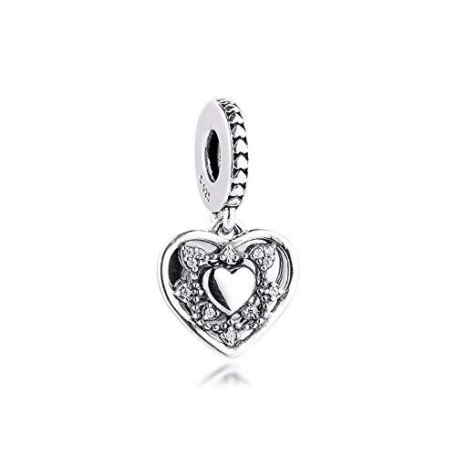 XIYANG DIY Se Adapta A Las Pulseras Originales De Pandora Plata De Ley 925 Pandora Clear Cz My Wife Always Charms Beads Jewelry Making Gift para Mujeres