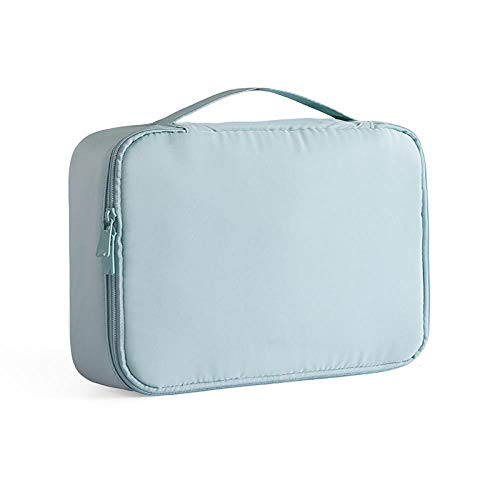 Good Time Stor Cosmetic Bag Portable Travel Cosmetic Storage Bag Girl's Heart Cosmetic Bag, Misty Blue A