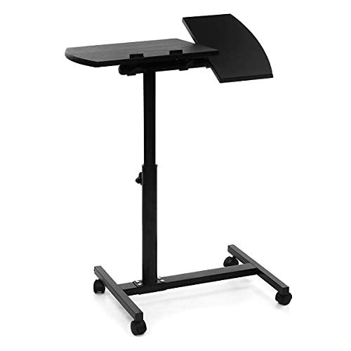 Escritorio pequeño Conveniencia Puntero de cuaderno ajustable de altura plegable con ruedas Rolling Coche Laptop Disponible Mesa de mesa Sofá bobinas portátil cuaderno escritorio Vida caliente