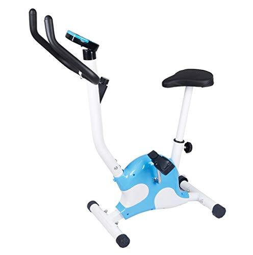 HHHKKK Bicicleta de Spinning Bicicleta Indoor Niveles de Resistencia Ajustables Manillar Ajustable y Asiento Bicicleta Estática Plegable Pantalla LCD Plegable y Fácil de Almacenar
