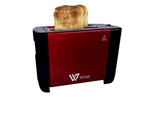 Tostador doble ranura para 2 rebanadas, 6 niveles de tostado, 700w 50/60hz 110-240v. Función Stop y Bandeja Recogemigas