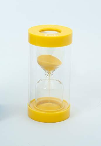 TickiT 92232 ClearView Sanduhr mit Vergrößerungseffekt, 3 Min, 72mm Durchmesser