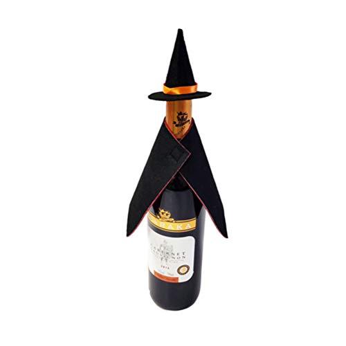 PRETYZOOM - Juego de 2 botellas de vino para Halloween