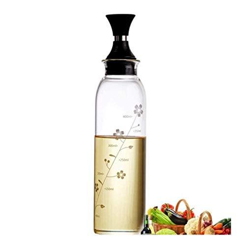 GAOTTINGSD Aceitera y vinagrera Botella de Aceite de Oliva Aceite Vinagre Botella Dispensador de Cristal a Prueba de Fugas Botella Transparente de Cocina condimento Especia Botella de Almacenamiento