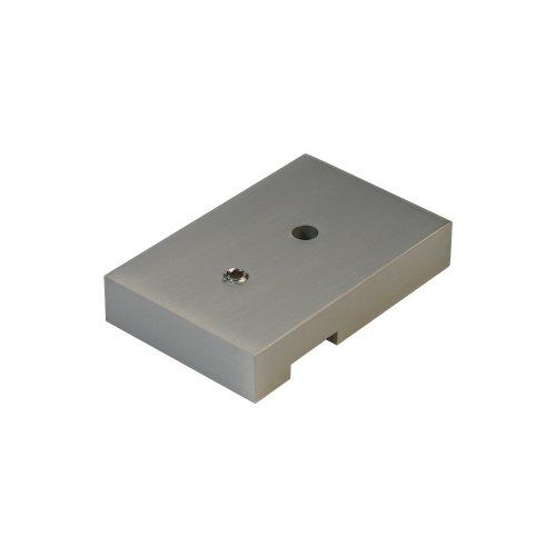 Liedeco Deckenträger 1-läufig, für eckige Stilgarnitur, Flächenvorhangschiene Cubis | Nickel-matt | 1 Stück