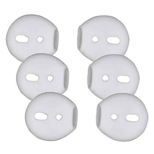 IPOTCH 3 Pares de Almohadillas de Silicona para Los Oídos Eargels Ear Tips Gels Bud Compatible para iPhone 7 Auricular Blanco