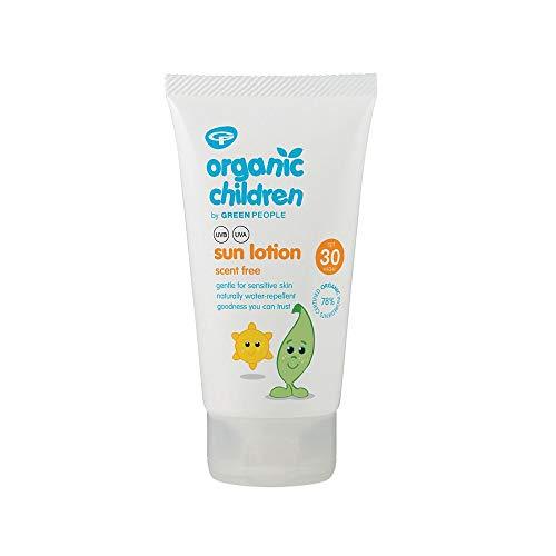 Green People Lotion solaire pour enfant sans parfum indice de protection 30 150 ml