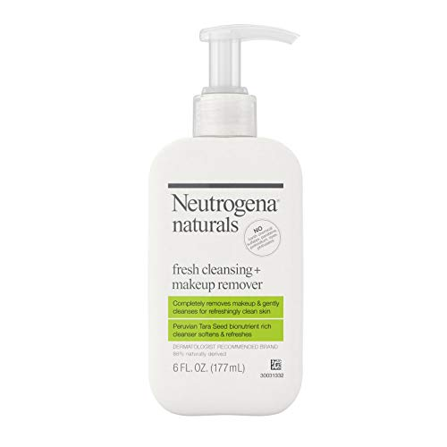 Neutrogena Naturals Frische Reinigung tägliche Gesichtsreinigung + Make-up Entferner mit natürlich gewonnenen peruanischen Tara Samen, hypoallergen 6 fl. Oz (2 Satz)