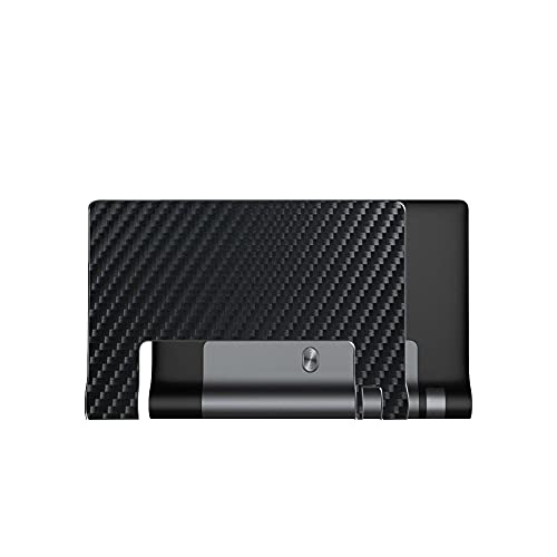VacFun 2 Piezas Protector de pantalla Posterior, compatible con lenovo YOGA TAB 3 8' YT3-850F TAB3, Película de Trasera de Fibra de carbono negra Skin Piel