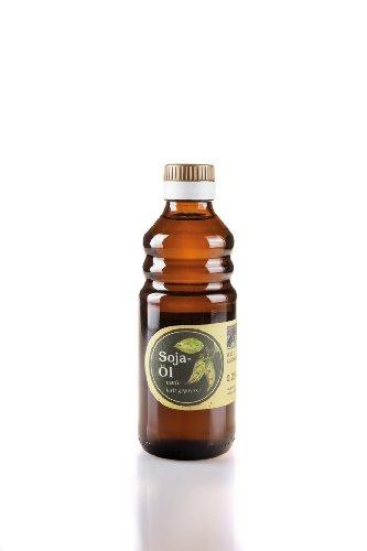 Kaltgepresstes Sojaöl - naturrein aus der O.E.L. Goldmühle, Saatgut aus Region Schnaitsee (ohne Gentechnik) - 250 ml
