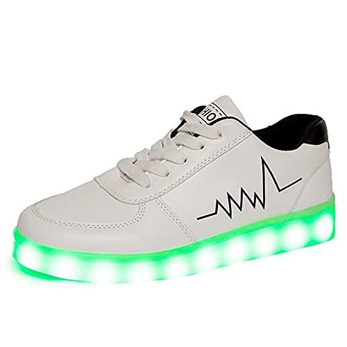 Temptation at dusk zy Schuhe Mit Leuchtsohle,Unisex 7 Farben LED Schuhe USB Aufladen Leuchtschuhe Licht Blinkschuhe Leuchtende Sport Sneaker Light Up Turnschuhe Damen Herren 42
