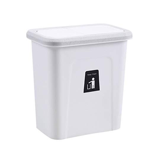 JGHF Küchenschrank Tür Hängender Abfalleimer mit Deckel Wand-montierte Abfallkörbe Push-Top Mülleimer Mülleimer Mülleimer Container (A)