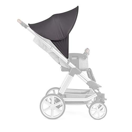 Zamboo Toldo Pop Up XL / Protector solar Universal para cochecitos, capazos y sillas de paseo - Parasol con protección UV 40+ y funda - Gris oscuro