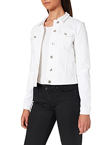 ONLY NOS Onltia DNM Jacket BB col Bex168a Noos Giacca in Jeans, Bianco (White White), 44 (Taglia Produttore: 38.0) Donna