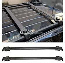 OCPTY Roof Rack Crossbars Cargo Carrier Fit for Jeep Grand Cherokee 1999-2004,for Jeep Patriot 2007-2011 Black Aluminum Luggage Rack Top Cargo Rack