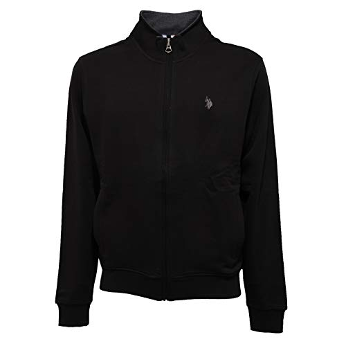 3554K Felpa Uomo U.S. POLO ASSN. Black Full Zip Sweatshirt Man [L]