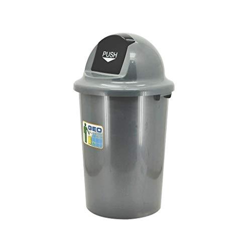 AOYANQI-Cubos de basura La basura de plástico puede, Ronda de basura Oficina tapa del bote de basura al aire libre de alta capacidad puede Pasillo del hotel de basura portátil puede Bajo techo, en ext