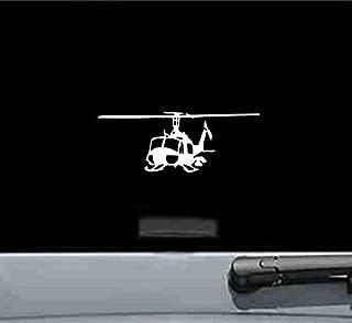 JS Artworks Uh1 Iroquois Huey Left Helicopter Gunship Vinyl Decal Sticker (White)