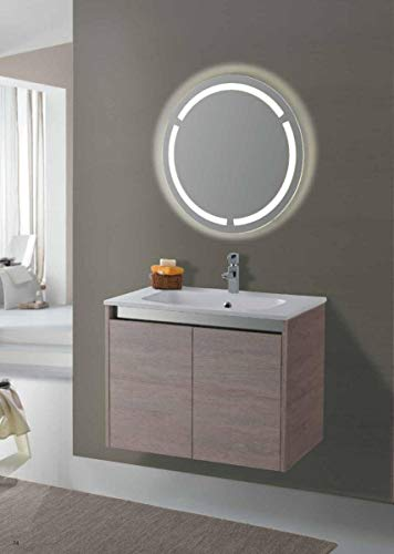 Set Mobile Lavabo Specchio LED Arredo Bagno Moderno Arizona80 CERAMICHEMIRANDA-Toronto