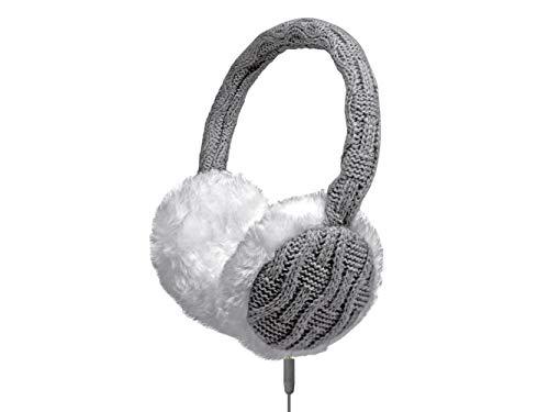 Cuffia stereo WOOL con microfono e tasto di risposta, colore Grigio/Bianco Connettore Jack 3,5 mm