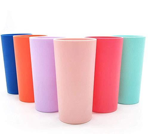 Unbreakable 26-ounce Plastic Tumbler Drinking Glasses, Set of 12 Multicolor - Dishwasher safe, BPA Free