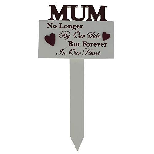 Global Design Concepts Graveside grave stick Sign My MUM non più our Side 3D lettere