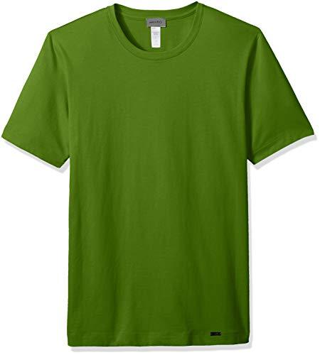 Hanro Herren Living Short Sleeve Shirt Pyjama-Oberteil (Top), Cactus, Medium