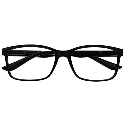 The Reading Glasses Company Nero Lettori Grande Stile Designer Uomo R83-1 +2,00 - 50 Gr
