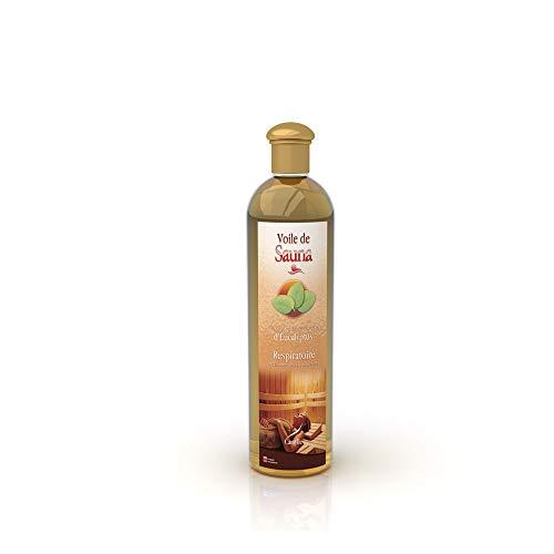 Camylle - Voile de Sauna Eucalyptus - Fragrances à base d'Huiles Essentielles 100% Pures et Naturelles pour Sauna - Respiratoire aux arômes frais et pénétrants - 250ml