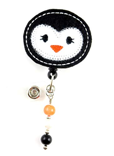 Cute Penguin - Nurse Badge Reel - Retractable ID Badge Holder - Nurse Badge - Badge Clip - Badge Reels - Pediatric - RN - Name Badge Holder
