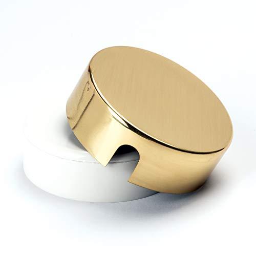 Verteilerdose aus Messing Baldachin Deckendose Rosette Abzweigdose messing glänzend Abdeckung gold (Messing)