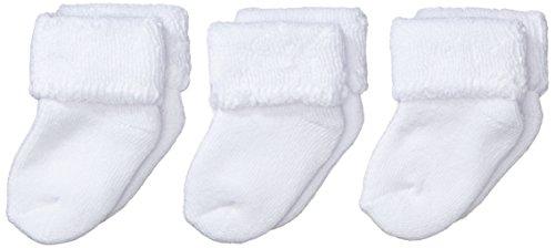 Sterntaler Primeros Calcetines Pack de 3, Edad: a partir de 0 meses, Talla: Recién nacidos (Talla 0), Blanco
