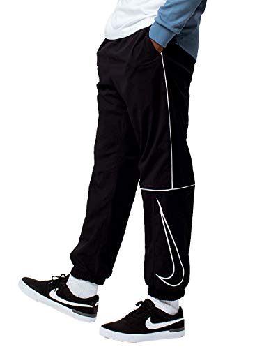 Nike Herren M NK SB Track Swoosh Pants, Black/White, XL