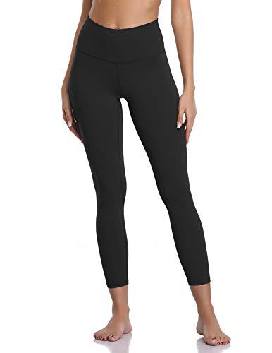 Colorfulkoala - Pantalones de Yoga para Mujer, Cintura Alta, Suaves, Talla 7/8 - Negro - Small