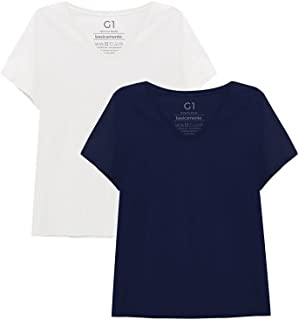 Kit 2 Camisetas Lisa, Basicamente., Feminino