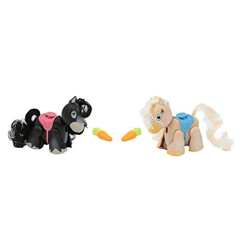 Giochi Preziosi Pet Pony Parade, Blister Doppio, Ponies Razza Blackfell e Palomino, Nero/Beige, Colore, PTN01100