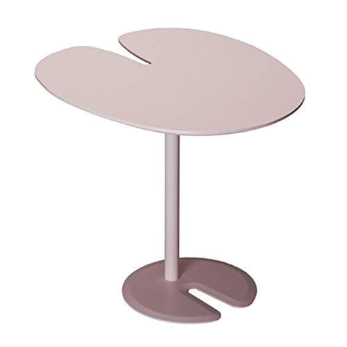 KGDC Modern Versatile Side Table Round Side Table Elegant Lotus Leaf Design End Table Matte Texture Small Tables for Living Room, Accent Tables, Side Table for Small Spaces,20' Tall Coffee Desk