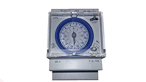 YMBERSA Reloj Programador 24H para Cuadro eléctrico de Piscinas, 230v. Tres módulos...