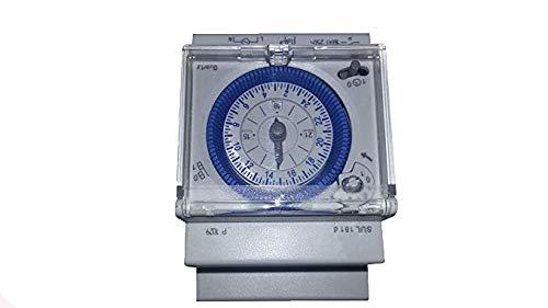 YMBERSA Reloj Programador 24H para Cuadro eléctrico de Piscinas, 230v. Tres módulos con Reserva de Marcha