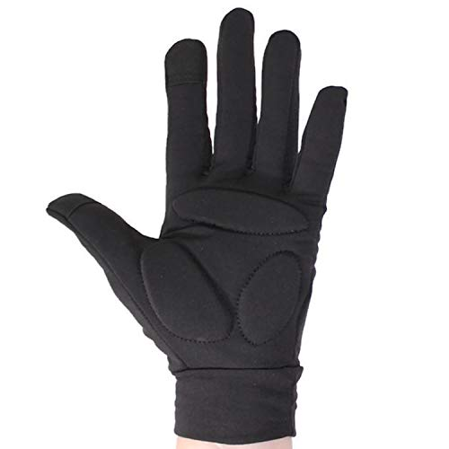 CRS Cross Figure Skating Gloves - Warm Padded Protection for Practice, Competition, or Testing/Examination (Black, Youth Medium/Large)