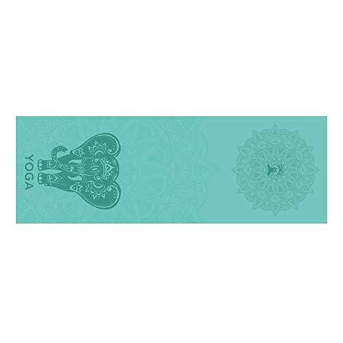 LRL Accesorios de Fitness de Yoga Toalla Yoga Mat - 185x63cm Yoga Impreso Toalla Antideslizante Aptitud del Entrenamiento de Pilates Mat Cubierta for el Gym Yoga Mantas Gimnasio Ejercicio Camping