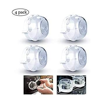 Tomaibaby 6PCS Oven Knob Cover Baby Safety Protection Gas Knob Cap Gas Stove Knob Protective Switch Cap Cover for Nursery Kitchen Home Hotel