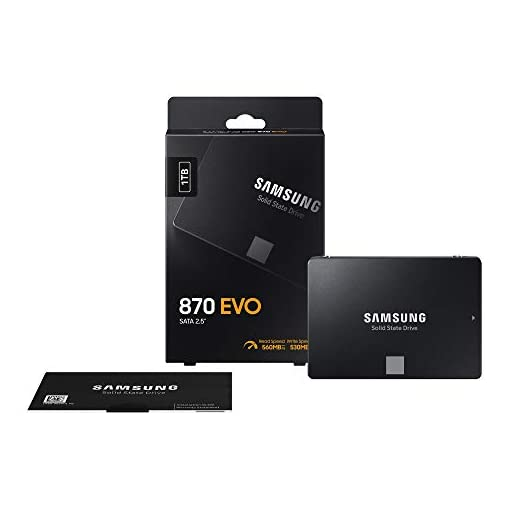 "Samsung SSD 870 EVO, 1 TB, Form Factor 2.5"", Intelligent Turbo Write, Magician 6 Software, Black (Internal SSD) 13"