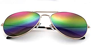 TYJYY Sunglasses Fashion Sunglasses Women Pilot Style Female Sun Glasses Metal Frame Aviator Sunglasses for Men Uv400