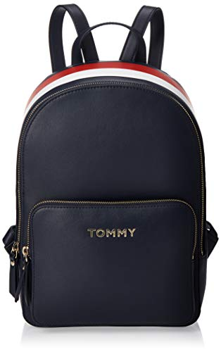 Tommy Hilfiger - Th Corporate Backpack, Mochilas Mujer, Multicolor (Corporate Mix), 10x0.1x21.5 cm (W x H L)